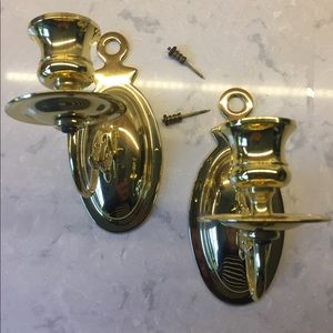 PAIR of Vintage (approx 1982) Brass Sconces